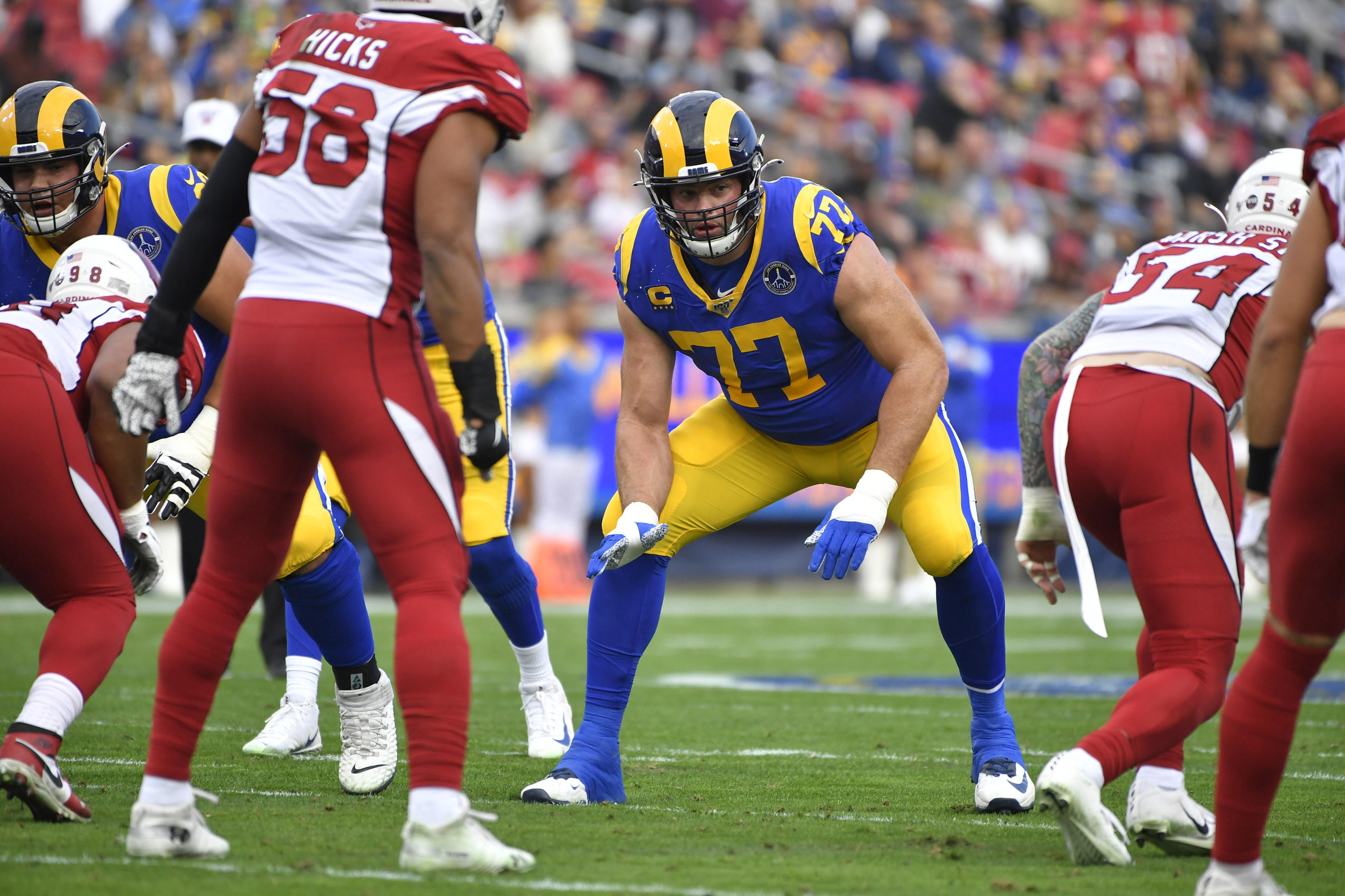 La Rams Andrew Whitworth Signs To Protect Goff S Blindside